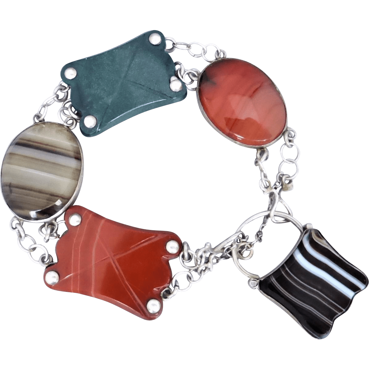 Antique_scottish_agate_bracelet Beryl Lane - Antique Scottish Jewellery
