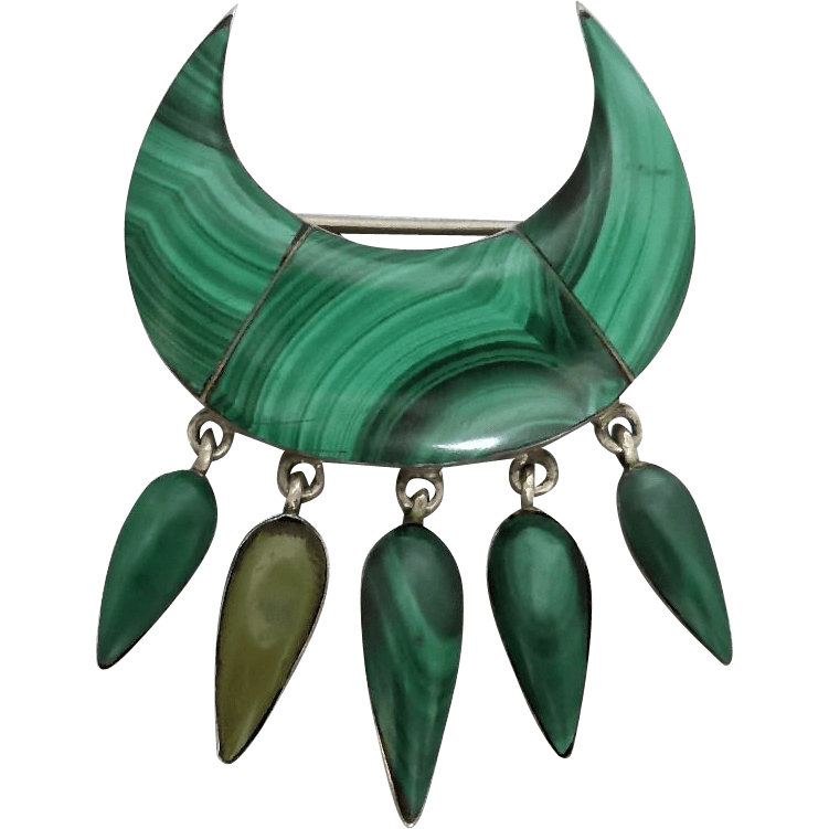 victorian_malachite_brooch Beryl Lane - Antique Scottish Jewellery