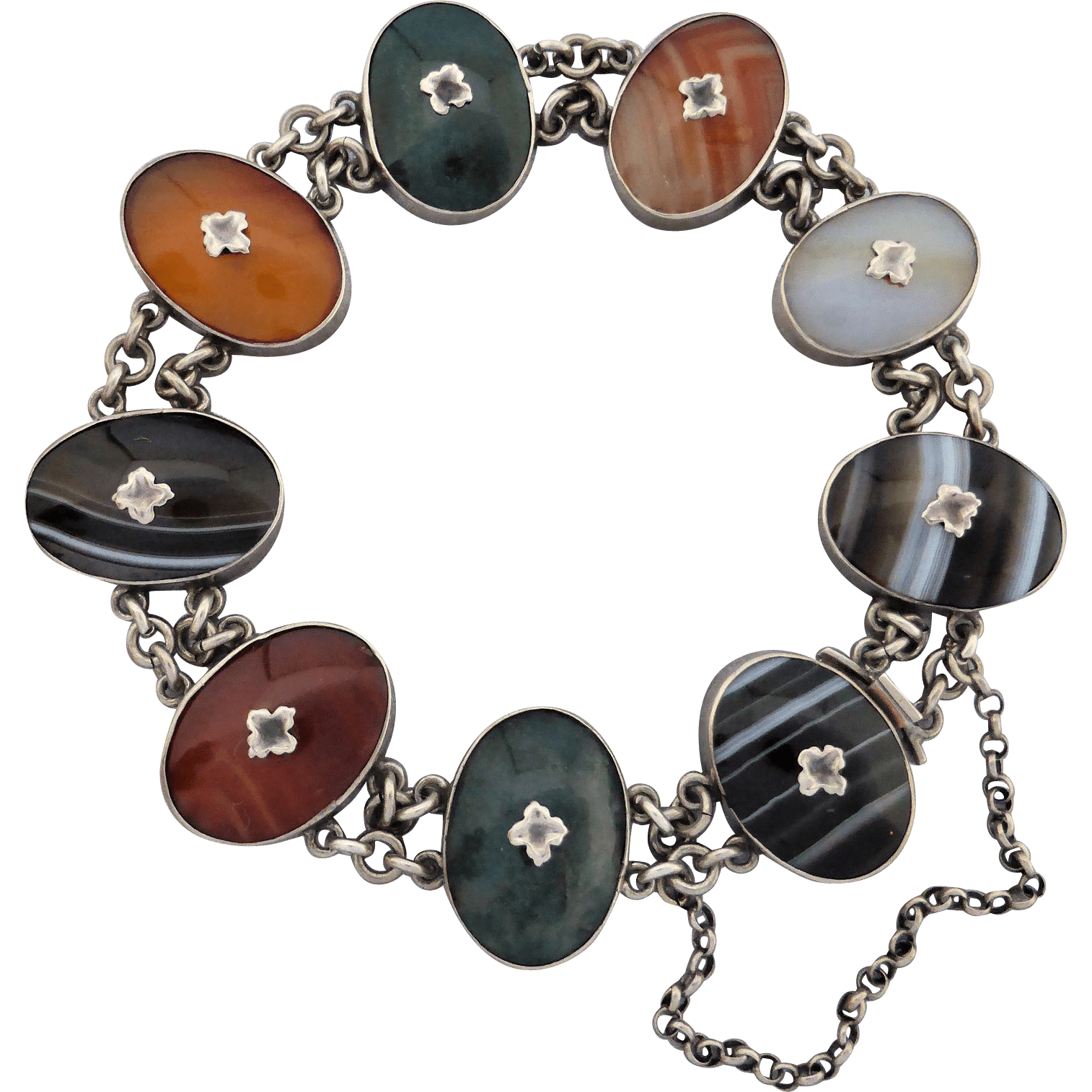 victorian_scottish_agate_bracelet Beryl Lane - Antique Scottish Jewellery