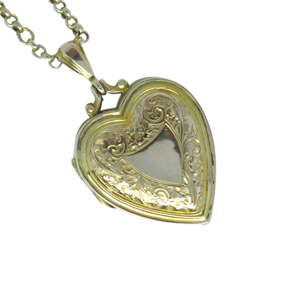 amazon heart locket lockets engraved gold dp quot filled yellow com