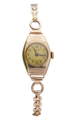 9ct Gold Ladies Art Deco Manual Wind Wendts Watch Tap To Expand