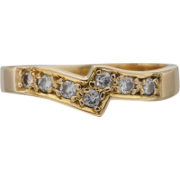 18ct_yellow_gold_diamond_fitted_band Beryl Lane - Vintage 18ct White & Yellow Gold Patterned & Pierced Band