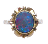 9ct-gold-opal-ring_2 Beryl Lane - Vintage Retro 60's Colourful Opal Triplet Pendant with 9ct Gold Necklace