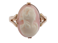 antique-cameo-ring Beryl Lane - Antique 9ct Rose Gold Pearl and Cameo Bangle
