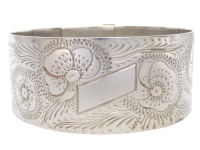 antique-sterling-silver-bangle_-_copy Beryl Lane - Antique Victorian Sterling Silver and Rose Gold Inlay Hinged Bangle