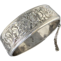 antique-victorian-silver-bangle_1133362951 Beryl Lane - Antique Victorian Hand Engraved Mourning Locket Enclosed with Weaved Hair