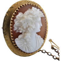 antique_carved_shell_bacchante_cameo_brooch_in_9k_gold Beryl Lane - Brooches & Pins