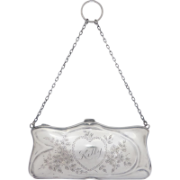 antique_sterling_silver_chatelaine_bag Beryl Lane - Art Nouveau (1890-1915)