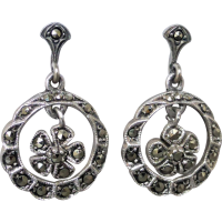 vintage-marcasite-silver-earrings Beryl Lane - Marcasite Jewellery