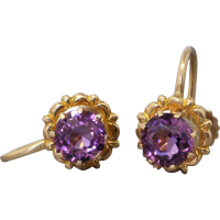 vintage-purple-paste-earrings_1905903635 Beryl Lane - Vintage Rolled Gold Amethyst Paste Pendant