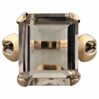 vintage-retro-1950s-pale-smoky-quartz-ring Beryl Lane - Mid Century (1950- 1970)