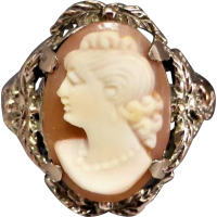 vintage_cameo_ring Beryl Lane - Vintage 9ct Gold Three Graces Cameo Ring