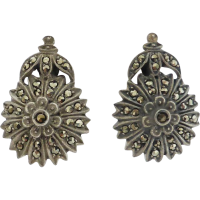 vintage_marcasite_flower_earrings Beryl Lane - Marcasite Jewellery