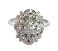 white-gold-filigree-diamond-ring_2 Beryl Lane - Vintage 18ct White & Yellow Gold Patterned & Pierced Band