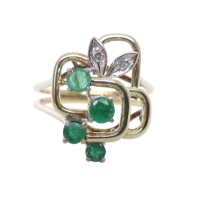 14ct-retro-emerald-and-diamond-ring_3 Beryl Lane - SOLD