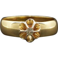 15k_vintage_diamond_flower_ring Beryl Lane - SOLD