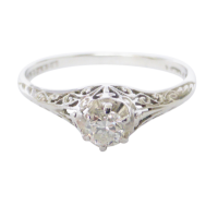 18ct-white-gold-filigree-solitaire-diamond-ring_2 Beryl Lane - Contemporary 18ct White Gold Diamond Filigree Ring