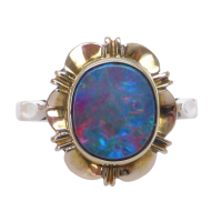 9ct-gold-opal-ring_2 Beryl Lane - Antique Victorian 9ct Rose Gold Opal and Garnet Bar Brooch