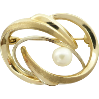 9ct_gold_vintage_pearl_brooch Beryl Lane - Brooches & Pins