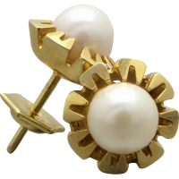 akoya_pearl_stud_earring Beryl Lane - SOLD