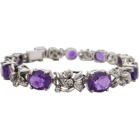 amethyst_and_diamond_bracelet Beryl Lane - SOLD