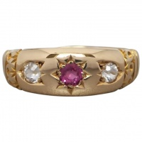 antique-18k-gold-verneuil-ruby-white-sapphire-gypsy-ring Beryl Lane - New In