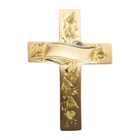 antique-9k-gold-cross-brooch-beautiful-hand_engraving Beryl Lane - Brooches & Pins