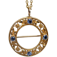 antique-art-nouveau-14k-gold-sapphire-brooch_pendant Beryl Lane - Necklaces & Pendants