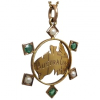 antique-c1901-post-federation-emerald-seed-pearl-pendant Beryl Lane - Edwardian (1901- 1915)