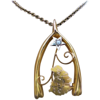 antique-c1901-post-federation-upcycled-9ct_gold_map_of_australia_pendant Beryl Lane - Necklaces & Pendants