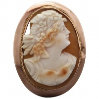 antique-c1910-australian-9k-gold-shell-cameo-brooch Beryl Lane - Brooches & Pins