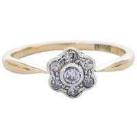 antique-daisy-ring Beryl Lane - SOLD