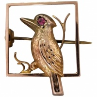 antique-edwardian-9ct-gold-australian-kookaburra-brooch Beryl Lane - Brooches & Pins