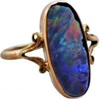 antique-edwardian-9ct-gold-lined-opal-ring Beryl Lane - Rings
