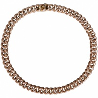 "antique-edwardian-9k-rose-gold-curb-necklace Beryl Lane - Antique Victorian gold cased 15"" Curb Watch Chain Necklace"