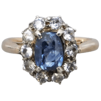 antique-edwardian-unheated-sapphire-cluster-ring Beryl Lane - Rings