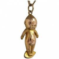 antique-late-edwardian-kewpie-doll Beryl Lane - Antique Large 9ct Gold Kewpie Doll with Angel Wings Charm Pendant