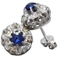 antique-sapphire-and-diamond-stud-earrings Beryl Lane - Dazzling 0.88cwt Diamond Stud Earrings in 9ct White Gold