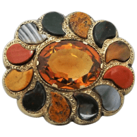 antique-scottish-9ct-gold-cairngorm-citrine-agate-brooch Beryl Lane - Brooches & Pins