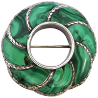 antique-scottish-malachite-brooch Beryl Lane - Victorian (1837- 1901)