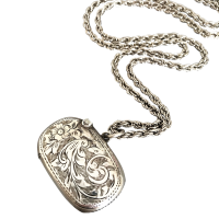 antique-vesta-case-pendant Beryl Lane - Victorian Sterling Silver Scottish Aberdeen Granite Brooch, Signed Wheatley Carlisle