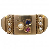 antique-victorian-15ct-gold-ruby-sapphire-pearl_ring Beryl Lane - New In