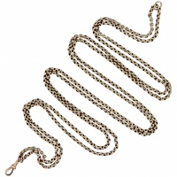 antique-victorian-9k-gold-muff-guard-belcher-necklace Beryl Lane - Victorian 9ct Gold Long & Smooth Belcher Muff Guard Chain