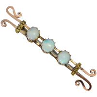 antique-victorian-9k-gold-three-solid-opal__brooch Beryl Lane - Antique Victorian 9ct Rose Gold Opal and Garnet Bar Brooch