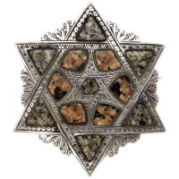 antique-victorian-c1860-scottish-aberdeen-granite-star-of-david-brooch Beryl Lane - Victorian (1837- 1901)