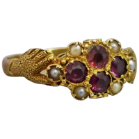 antique-victorian-fede-garnet-seed-pearl-ring Beryl Lane - Rings