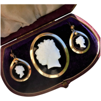 antique-victorian-rolled-gold-glass-composite-cameo-suite Beryl Lane - Victorian (1837- 1901)