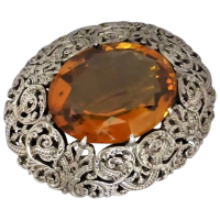 antique-victorian-scottish-citrine-brooch Beryl Lane - Antique Victorian Scottish 9ct Gold Citrine & Agate Brooch