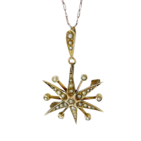 antique_edwardian_seed_pearl_starburst_pendant_necklace_convert_brooch___367 Beryl Lane - SOLD