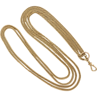 antique_gaurd_chain Beryl Lane - Victorian 9ct Gold Long & Smooth Belcher Muff Guard Chain